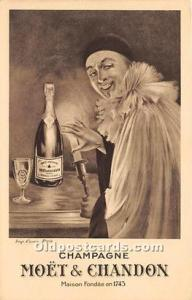 Advertising Postcard - Old Vintage Antique Champagne Moet & Chandon Unused