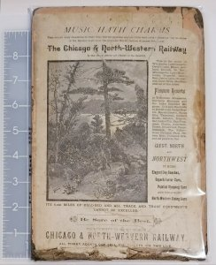 Chicago & North-Western Railway Advertisement on Music Book Cover c1900 D10005