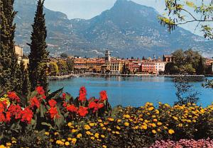 Italy Lago di Garda Riva Flowers Lake Panorama