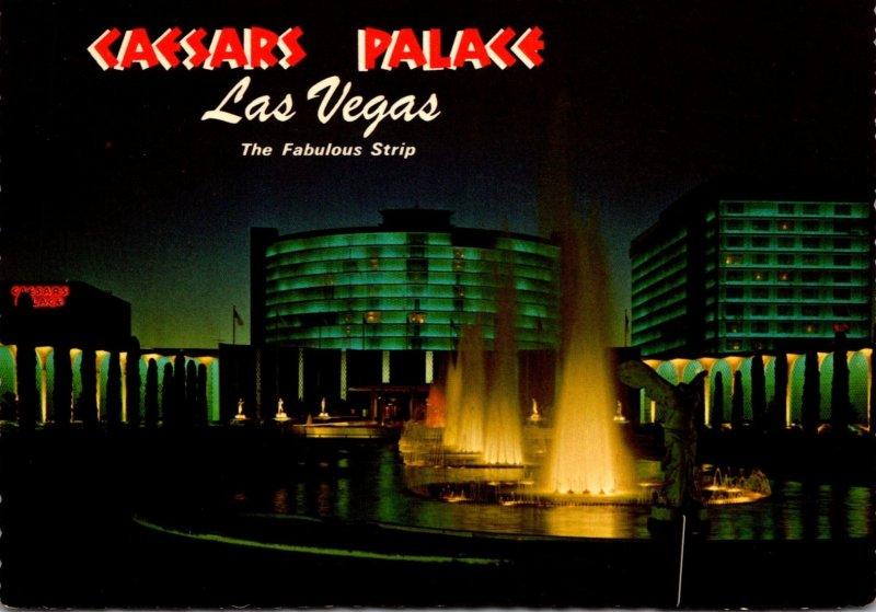 Nevada Las Vegas Caesars Palace At Night
