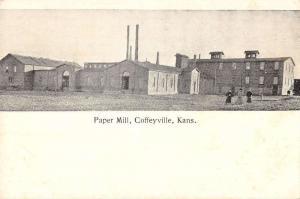 Coffeyville Kansas birds eye view local paper mill antique pc Z19594