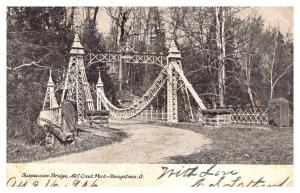 Ohio Youngstown , Suspension Bridge over Mill Creek
