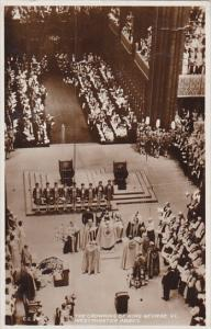 Crowning Of King George VI Westminster Abbey 1937 Real Photo