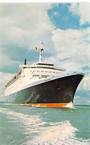White Star Line Cunard Ship Post Card, Old Vintage Antique Postcard Queen Eli...