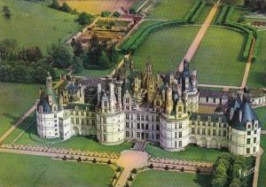 France Chambord La Facade nord-ouets du Chateau vue d'avion