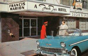 FRANCIS MARION HOTEL Charleston, SC Jack Tar Hotel c1950s Vintage Postcard