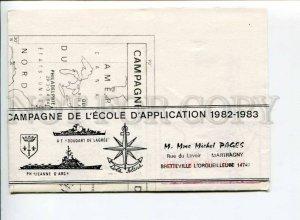 292927 FRANCE 1984 y ship Jeanne d'Arc Commandant Bourdais campaign folding page