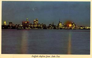 NY - Buffalo.  Skyline from Lake Erie, early 1960's