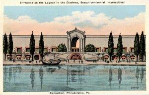 PA - Philadelphia. Sesqui-Centennial Int'l Exposition, 1926. Lagoon in the Gl...
