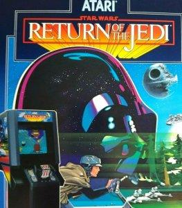 Star Wars Return Of The Jedi Atari Arcade FLYER Original 1984 Video Game Artwork