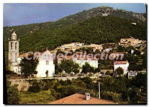 Postcard Modern Olivese Corsica Partial View To The Village