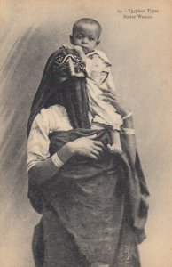 Egypt , 1900-10s ; Native Woman & Child