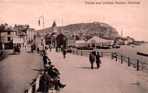 Parade and Liefboat Station Promenade Boats Hastings