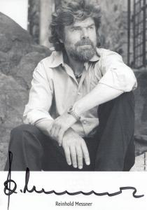 Reinhold Messner German Author Hand Signed Photo