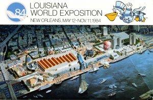 Louisiana World Exposition, 1984 - Folder. 10 Views + Covers + Narrative