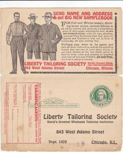 Advertising Liberty Tailoring Society World's Greatest Wholesale Tailoring In...