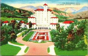 Colorado Springs CO The Broadmoor Hotel Postcard unused 1930s/40s