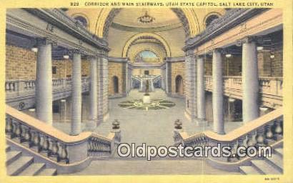 Salt Lake City, Utah, UT  State Capital, Capitals Postcard Post Card USA  Sal...