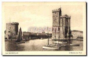 Old Postcard La Rochelle Entre Port