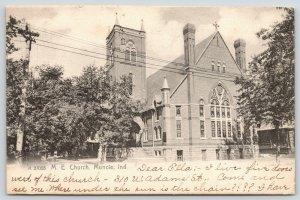 Muncie Indiana~Methodist Episcopal ME Church~1907 Rotograph A 27066~B&W Postcard