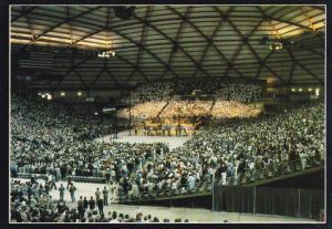 Interior of Tacoma Dome , Billy Graham Crusade , TACOMA , Washington , 50-70s