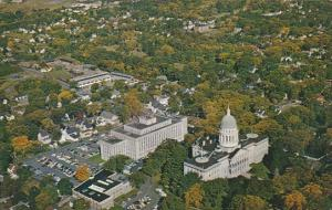 Air View Capitol Buildings Augusta Maine