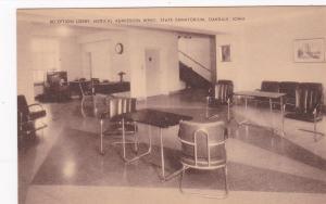 OAKDALE , Iowa, 1930s ; Lobby , State Sanatorium