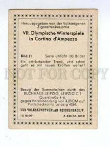 166997 VII Olympic Winter cross country skier CIGARETTE card