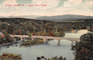Upper Town Bridge, Catskill, NY, Early Postcard, Used, from South Cairo, NY