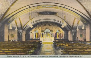 WASHINGTON DC, 1930-40s; Center view of Crypt of the National Shrine of the I...