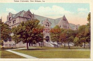 TULANE UNIVERSITY, NEW ORLEANS, LA for the education of white youth of Louisiana