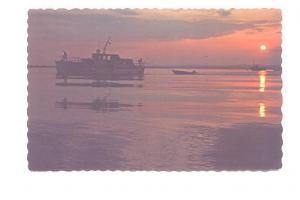 Boat Beautiful Sunset, Sept Iles, Quebec