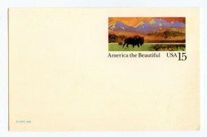 (3) ©1988 Unused 15 Cent Postcards America The Beautiful Buffalo
