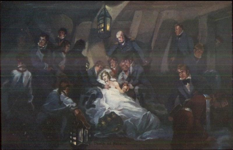 British Navy Lord Horatio Nelson - DEATH OF NELSON c1910 Postcard