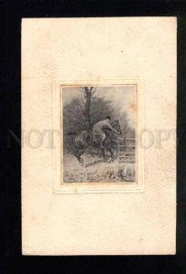 036471 HORSE Racing RIDER by WRIGHT vintage PC