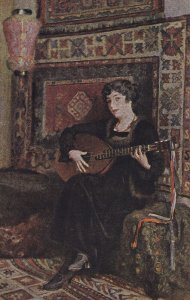 KARL WEISE, The Luteplayer, 1900-1910's