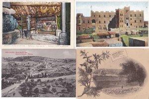 Jerusalem & Bethlehem Lot 4 Postcards - Israel Palestine Paulus Hospiz