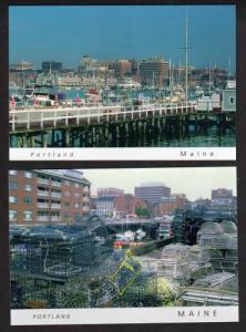 ME Lot 2 Oldport Harbor Views PORTLAND MAINE Postcards