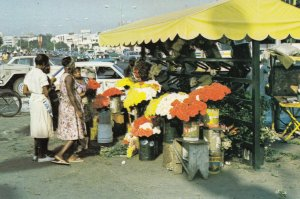 DOMINICAN REPUBLIC ,  1950-70s ; Flower SEllers , Santo Domingo