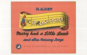 Mary Had  A Little Lamb & Other Nursery Rhymes Puffin Book Postcard