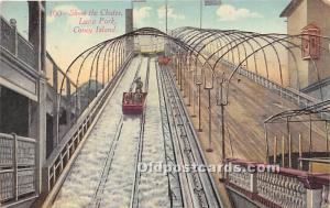 Amusement Park Postcard Post Card Shoot the Chute, Luna Park Coney Island, Ne...