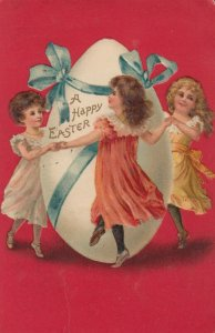 EASTER ; Girls Dance around a giant Egg , 1910