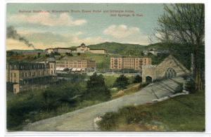 National Sanitarium Evans Gillespie Hotel Hot Springs South Dakota 1908 postcard