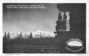 My McKinley Alaska Railroad Midnight Sun Tint Antique Postcard K83204