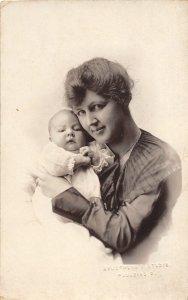 G45/ Paulding Ohio RPPC Postcard c1910 Mother Baby Armstrong Studio