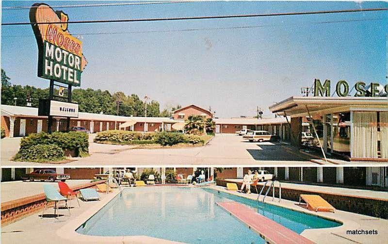 monroe la moses motor hotel pool entrance postcard 8656. Black Bedroom Furniture Sets. Home Design Ideas