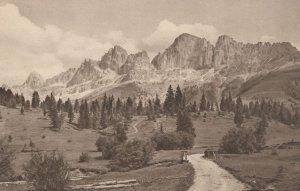 Bozner Dolomiten Karensee Hotel Antique Swiss Postcard