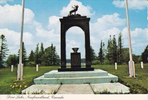 War Memorial , DEER LAKE , Newfoundland , Canada , 50-70s