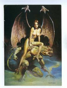 195430 Incubus by Boris Vallejo old postcard