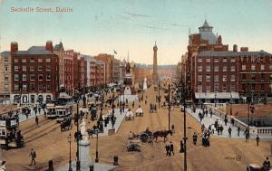 Ireland Dublin, Sackville Street, Tramways, Tram, Carriage, Animated